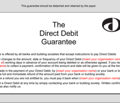 Direct Debit Guarantee – Are you using the wrong version?